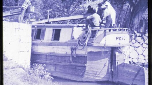 C&O Canal 1870 African American on barge/lock.