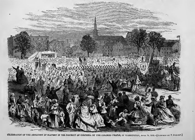 Celebration of the abolition of slavery in the District of Columbia, April 19, 1866.