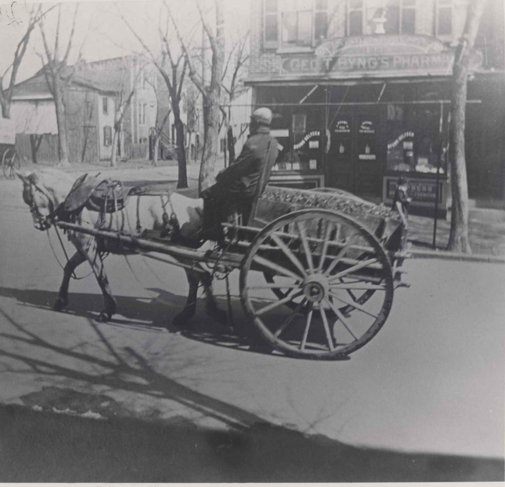 Coal Delivery at 29th & O Street, c. 1890.