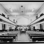 First Baptist Church, interior, built 1882, Historic American Buildings Survey.