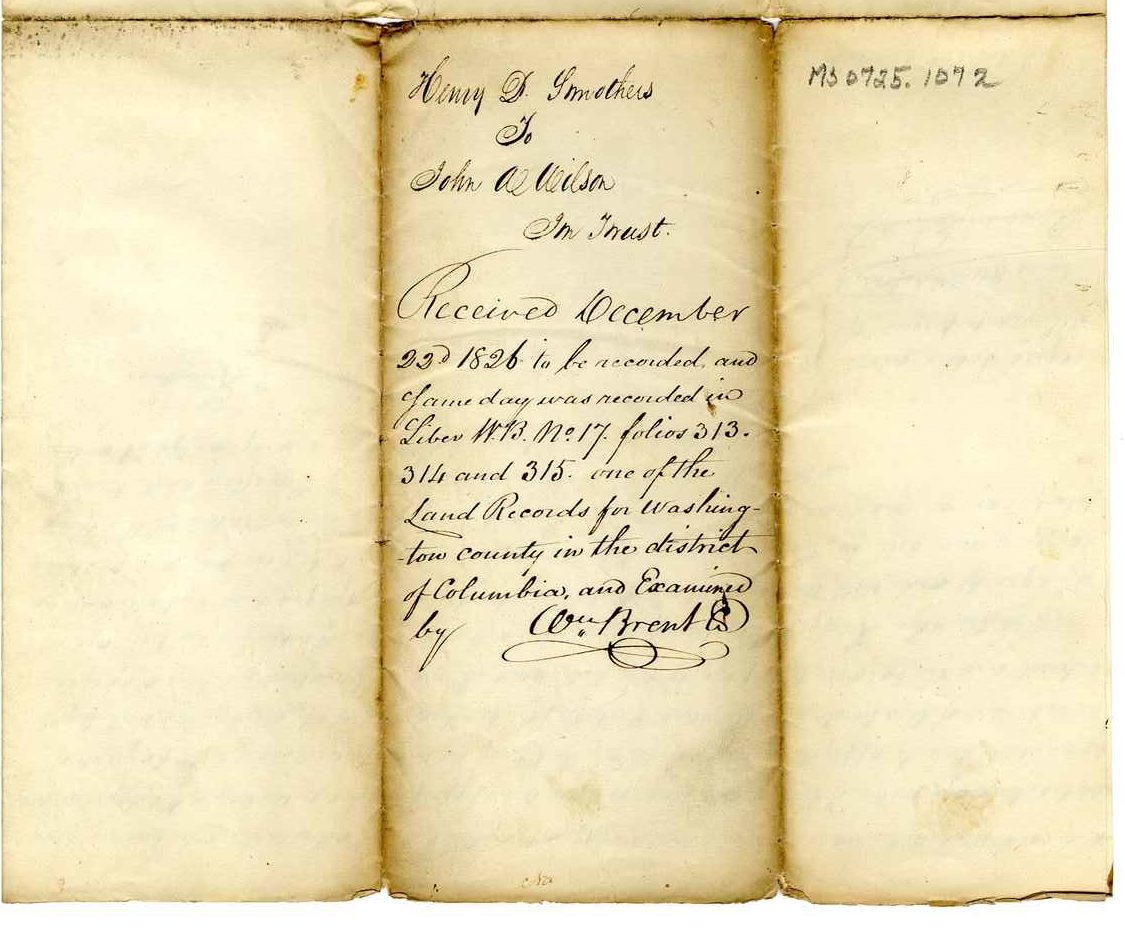 Henry Smothers mortgage property, executed December 22, 1826.
