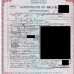 Mary Smackum death certificate.