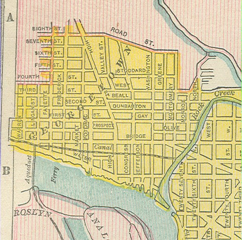 Map of Georgetown, 1899.