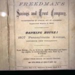 Pamphlet advertisement of Freedman's Saving & Trust.