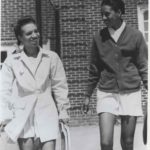 Roumania Peters and Althea Gibson at Wilberforce College (University)