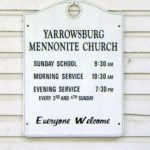 Yarrowsburg Mennonite Church sign.