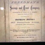 Pamphlet advertisement of Freedman's Saving & Trust.